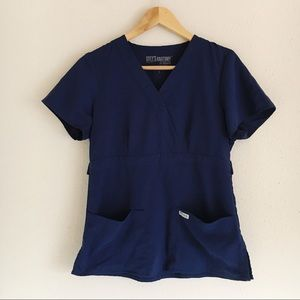 Greys Anatomy by Barco Blue Nurse Scrub Top